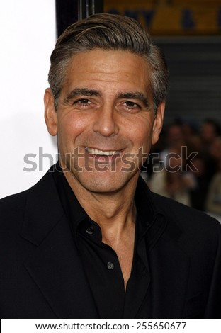 "George Clooney attends the Los Angeles Premiere of ""Ocean's Thirteen"" held at the Grauman's Chinese Theatre in Hollywood, California, on June 5, 2006.  - stock photo"