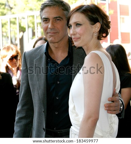 George Clooney, Vera Farmiga at Toronto International Film Festival UP IN THE AIR Premiere, Ryerson Theatre, Toronto, ON September 12, 2009 - stock photo