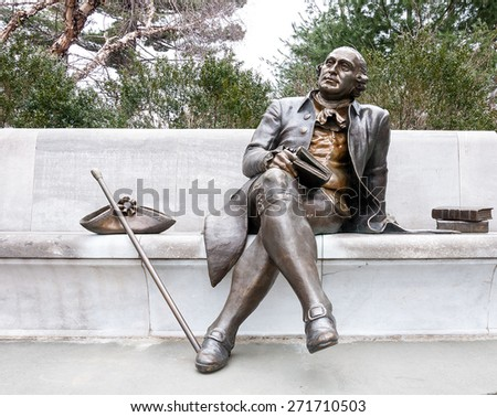 George Mason Memorial in National Mall - Washington DC United States
