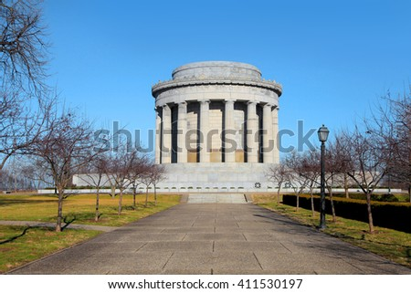 George Rogers Clark National Historical Park in Vincennes,Indiana - stock photo