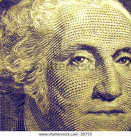 George Washington - American One Dollar - Legal Tender - Money - Business - Upclose - Macro - Symbol and Concept