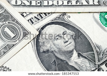 George Washington from dollar bill, closeup - stock photo