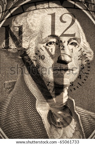 George Washington from US one dollar - stock photo
