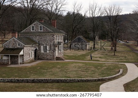 George Washington's Headquarters at Valley Forge, Pennsylvania, USA                                - stock photo