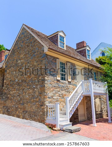 Georgetown Old Stone House in Washington DC USA - stock photo