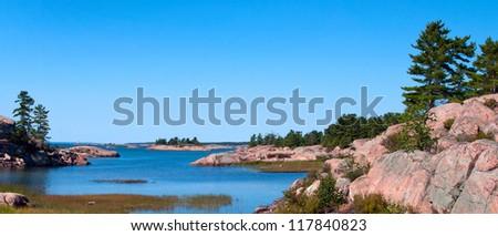 Georgian Bay coastline - stock photo