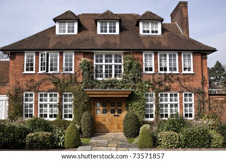 Georgian style building in London - stock photo