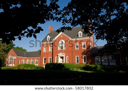 Georgian-style colonial mansion in Annapolis is the official home of Maryland's Governor - stock photo