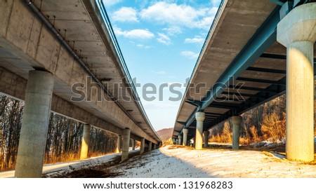 German Autobahn - stock photo