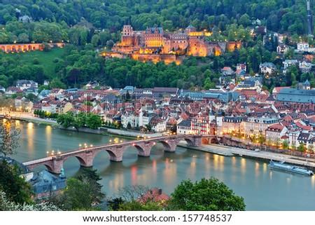 German castle - stock photo