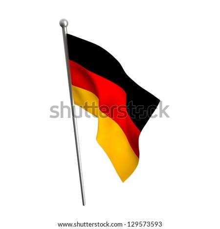 german flag isolated on white background - stock photo