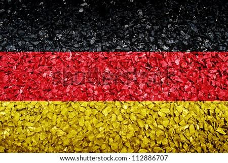 German flag on texture - stock photo