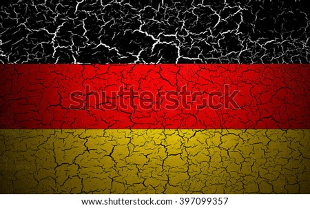 German flag. Shattered texture. - stock photo