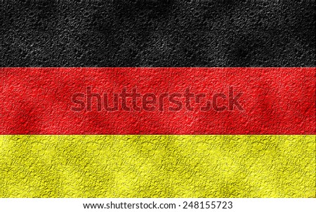 German flag with texture - stock photo