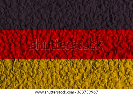 German Grunge flag. old dirty wall or grunge background - stock photo