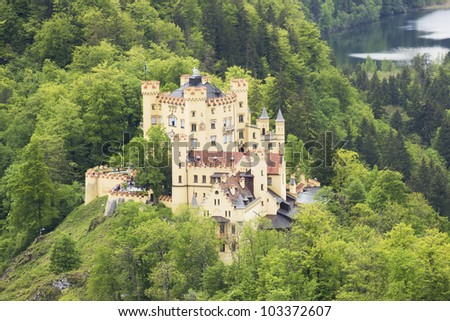 German Hohenschwangau Castle in Bavaria - stock photo