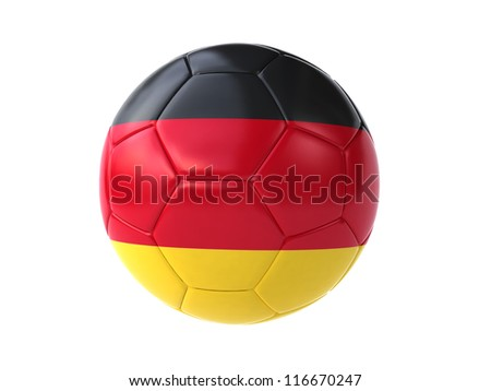 german soccer ball - stock photo