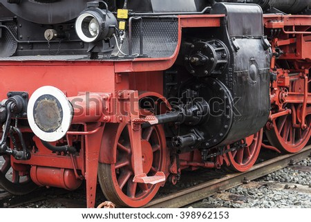 German Steam Locomotive Series 38 - stock photo