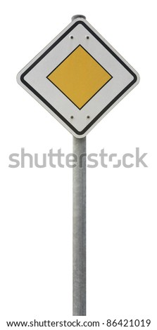 german traffic sign isolated on white - stock photo