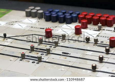 german train station control table - stock photo