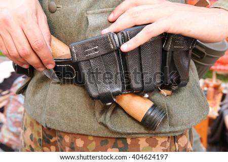 german uniform military second war - stock photo