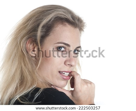 German woman portrait - stock photo
