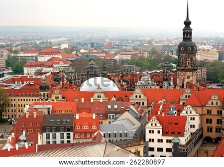 Germany. Ancient city of Dresden - historical and cultural center of Europe - stock photo
