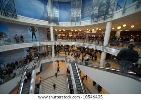 Germany biggest downtown shopping centre, limbecker platz, opened on 13 march 2008 - only for editorial use! - stock photo