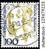 "GERMANY - CIRCA 1992: A stamp printed in Germany shows portrait Louise Henriette of Orange (1627 - 1667, mother of Frederick, King of Prussia), the same inscription, series ""Famous women"", circa 1992 - stock photo"