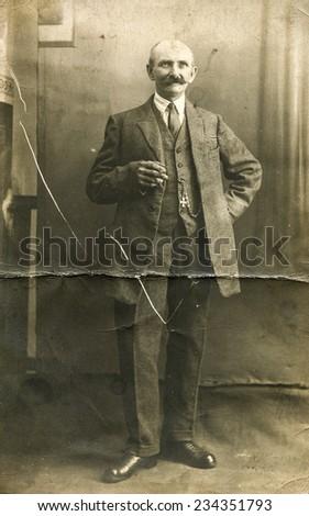 GERMANY, CIRCA 1920s: Vintage photo of man - stock photo