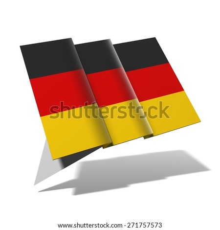 Germany flag 3D banner - stock photo