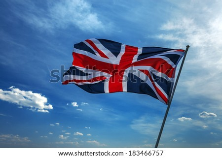 germany flag on fky background - stock photo
