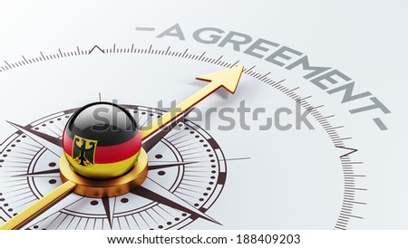 Germany High Resolution Agreement Concept - stock photo