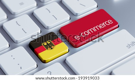 Germany High Resolution E-Commerce Concept - stock photo