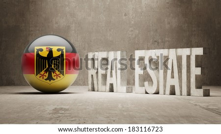 Germany High Resolution Real Estate Concept - stock photo
