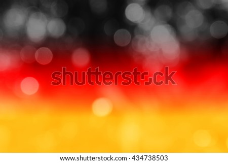 GERMANY : National flag. Soft blurred bokeh natural background. Abstract gradient desktop wallpaper.  - stock photo