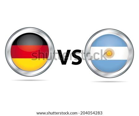 Germany vs Argentina. Sport game symbol. - stock photo