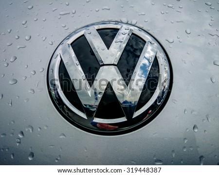 Germering Auto Show, September 20 2015 Germany - Sunday, VW logo - stock photo
