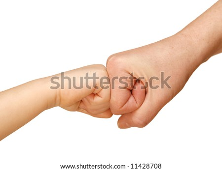 gesture of agreement, friendship, unification, hand - stock photo
