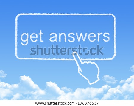 get answers message cloud shape - stock photo
