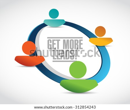 Get More Leads people network sign illustration design graphic - stock photo