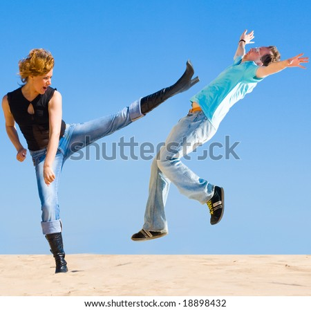 Get this! - stock photo