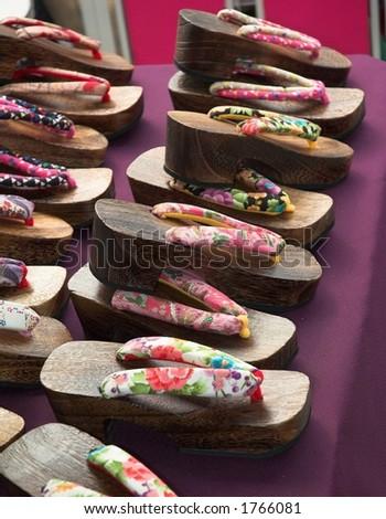 Geta Traditional Japanese sandals - stock photo