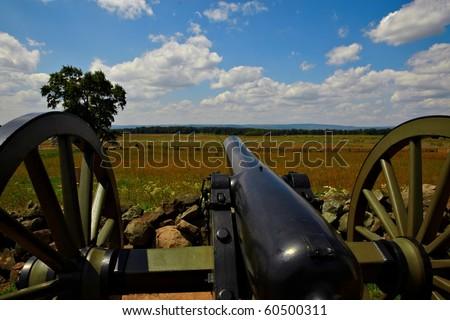 Gettysburg battlefield cannon - stock photo