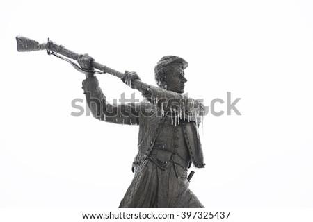 Gettysburg 72ND Pennsylvania Monument - stock photo