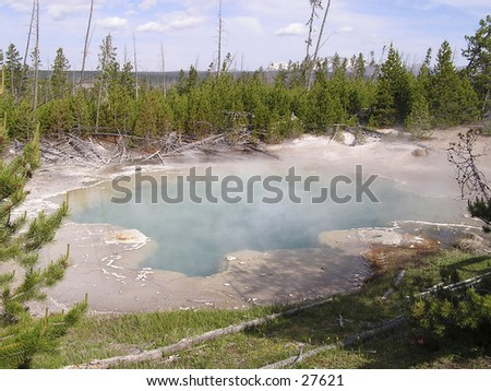 Geyser Yellowstone - Wyoming - stock photo