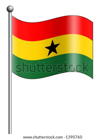 Ghana - Flag Series - stock photo