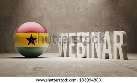 Ghana High Resolution Webinar Concept - stock photo