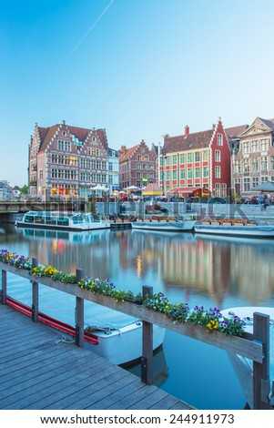 Ghent a little town in Belgium - stock photo