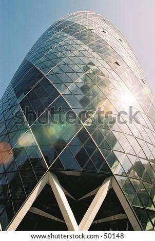 Gherkin London - stock photo
